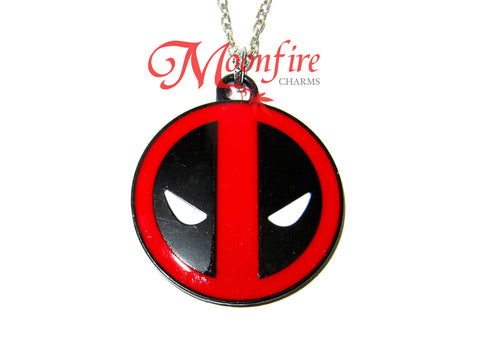 THE AVENGERS Deadpool Mask Logo Pendant Necklace