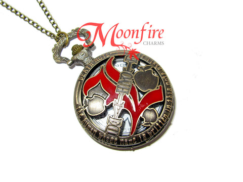 DEATH NOTE L Pocket Watch Pendant Necklace