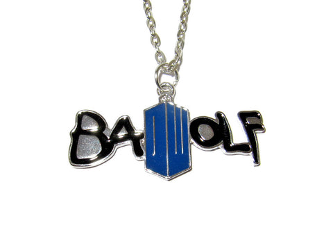DOCTOR WHO Bad Wolf Pendant Necklace