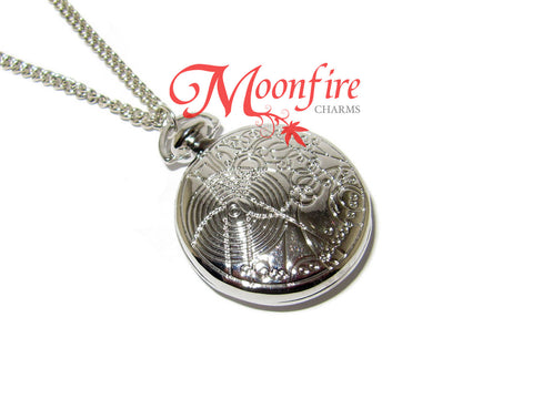 DOCTOR WHO Fob Watch Locket Pendant Necklace