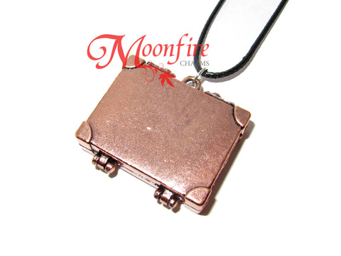 FANTASTIC CREATURES Newt Briefcase Locket Pendant Necklace