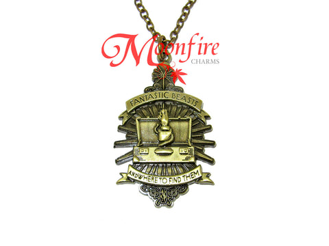 FANTASTIC CREATURES Newt Briefcase and Wand Pendant Necklace