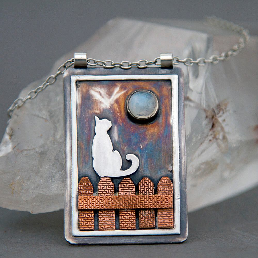 Full Moon Rising Pendant Necklace