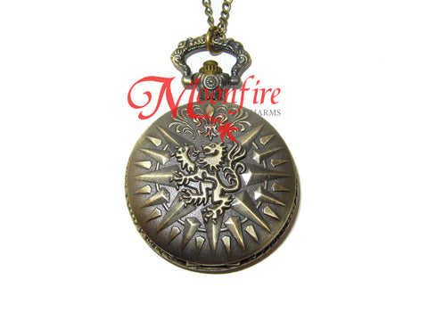 GAME OF THRONES House Lannister Pocket Watch Necklace