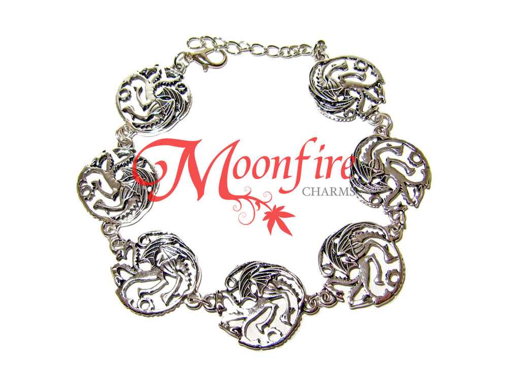 GAME OF THRONES House Targaryen Sigil Charm Bracelet