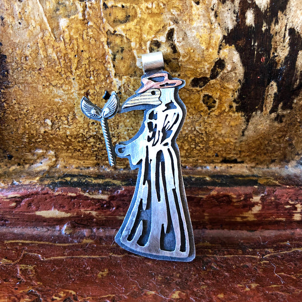 Get Well Soon Plague Doctor Pendant Necklace