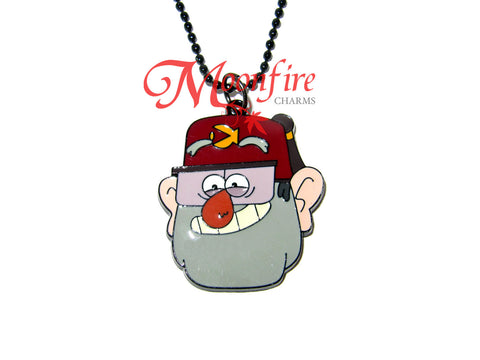 GRAVITY FALLS Grunkle Character Pendant Necklace