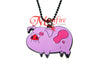 GRAVITY FALLS Waddles Purple Character Pendant Necklace