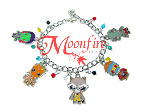 GUARDIANS OF THE GALAXY Fandom Charm Bracelet