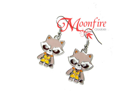 GUARDIANS OF THE GALAXY Rocket Raccoon Enamel Earrings