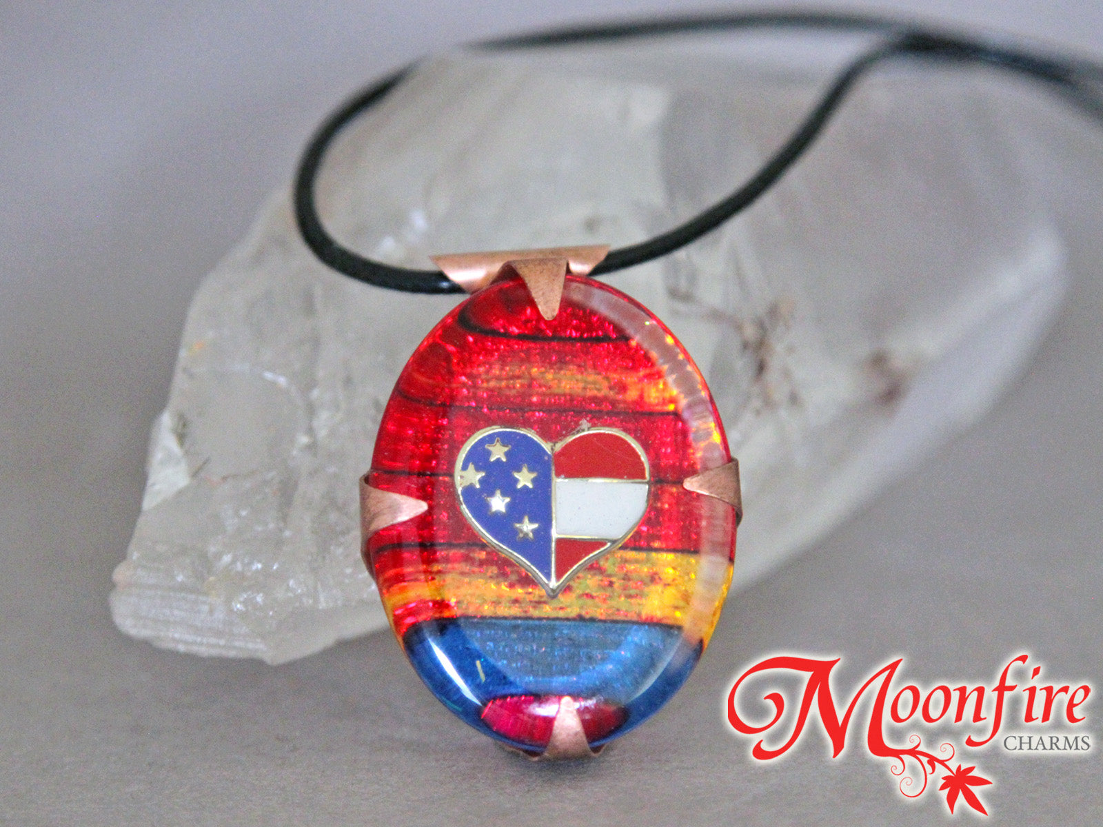 I ❤️ USA Resin Pendant Necklace