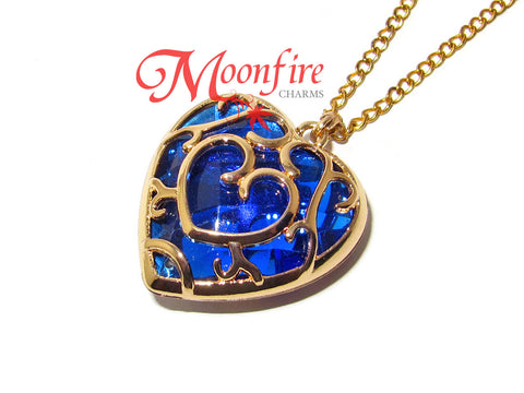 THE LEGEND OF ZELDA Blue Heart Container Pendant Necklace