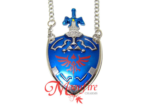 THE LEGEND OF ZELDA Master Sword Hylian Shield Sheath Pendant Necklace