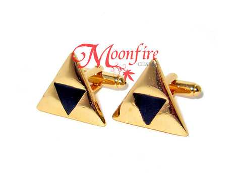 THE LEGEND OF ZELDA Triforce Golden Triangle Cufflinks