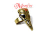 MALEFICENT Bronze Baby Raven Skull Ring