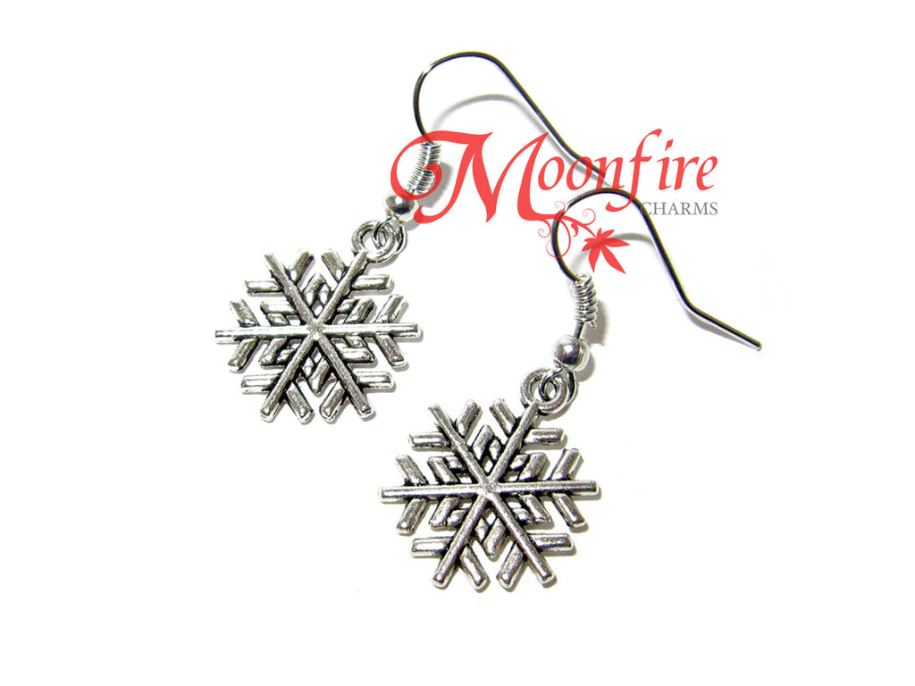 ONCE UPON A TIME Elsa Anna Snowflake Earrings