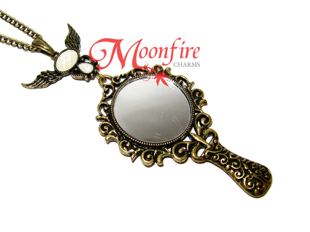 mirror necklace. once upon a time magic mirror pendant necklace