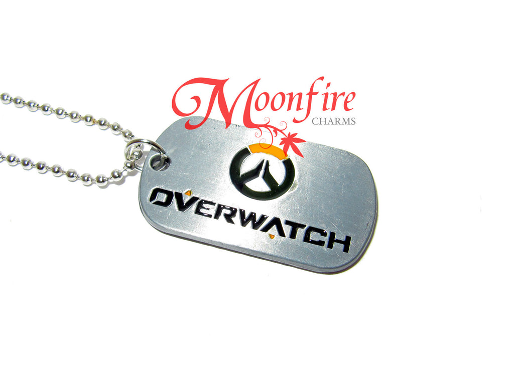 OVERWATCH Logo Dog Tag Pendant Necklace
