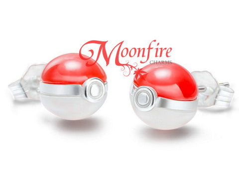 POKEMON 3D Pokeball Elegant Sterling Silver Ear Studs