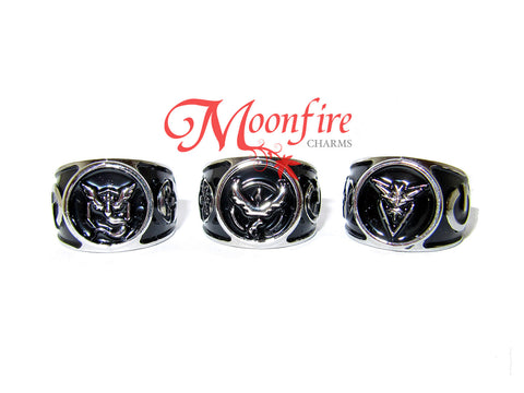 POKEMON GO Team Mystic/Valor/Instinct Logo Class Ring