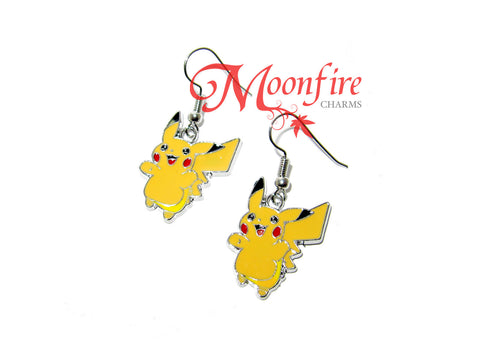 POKEMON Pikachu Enamel Earrings