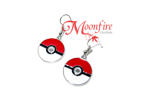 POKEMON Pokeball Enamel Earrings