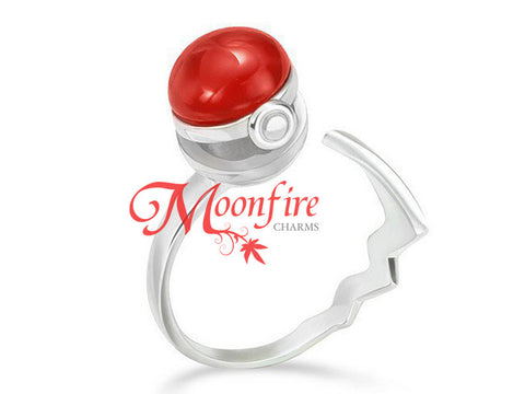 POKEMON 3D Pokeball Elegant Sterling Silver Ring