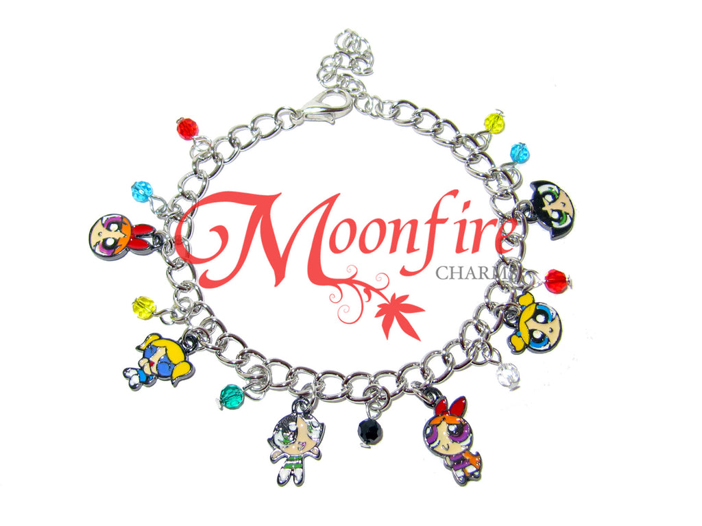 POWERPUFF GIRLS Cartoon Fandom Charm Bracelet
