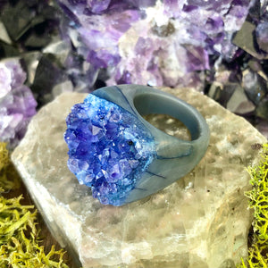 Ocean Glaciers Rock Candy Ring US 7 RCR-003
