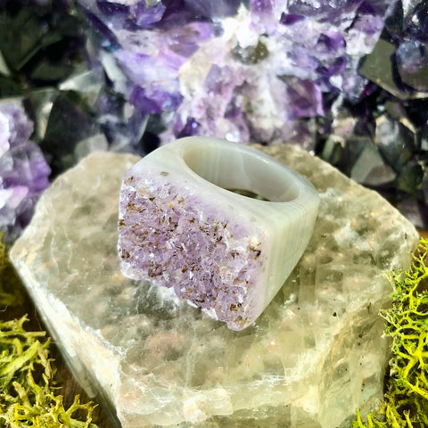 Lavender Frost Rock Candy Ring US 7 RCR-008
