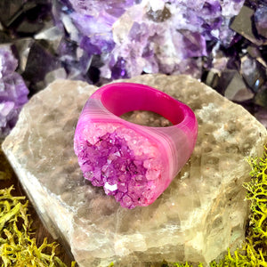 Fuchsia Flirtation Rock Candy Ring US 8 RCR-012