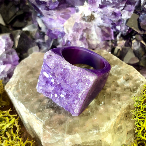 Lilac Passion Rock Candy Ring US 8 RCR-015