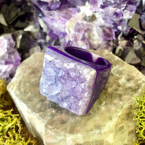 Milkweed Mulberry Rock Candy Ring US 7.5 RCR-020