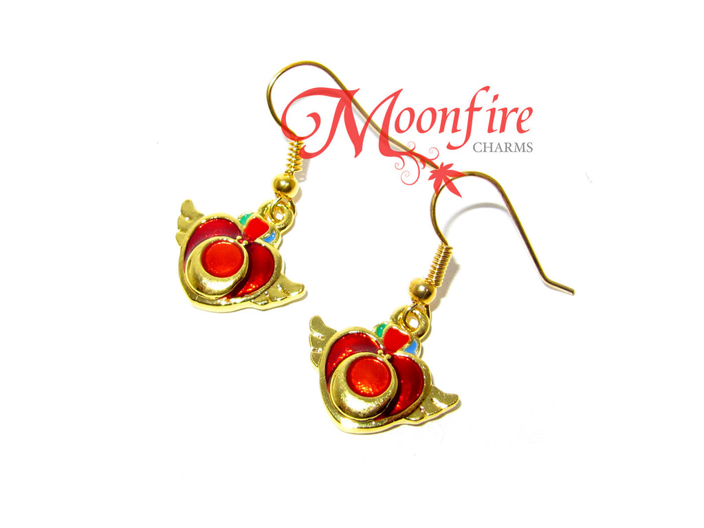 SAILOR MOON Red Crisis Moon Earrings