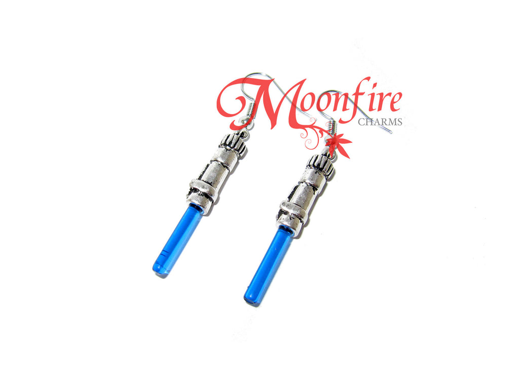 STAR WARS Blue Lightsaber Earrings