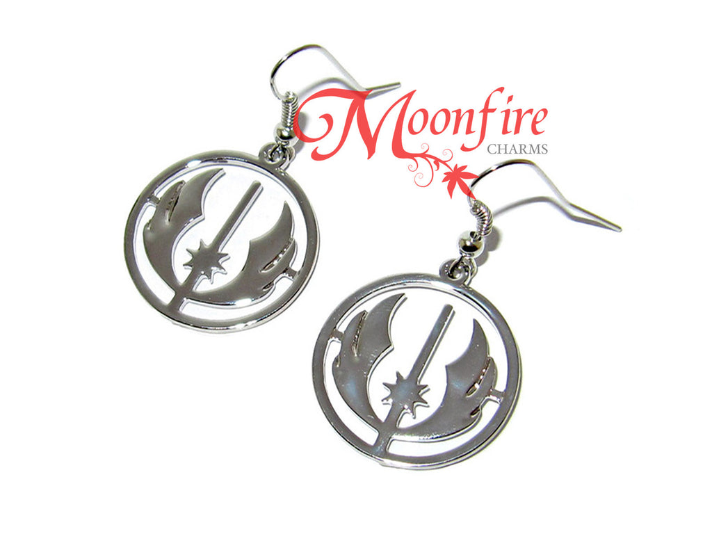 Star wars jedi order silver symbol earrings moonfire charms star wars jedi order silver symbol earrings biocorpaavc