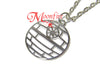 STAR WARS Death Star Outline Pendant Necklace