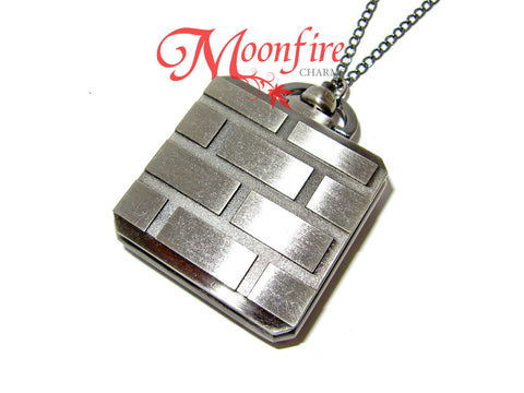SUPER MARIO Brick and Mystery Block Pocket Watch Necklace