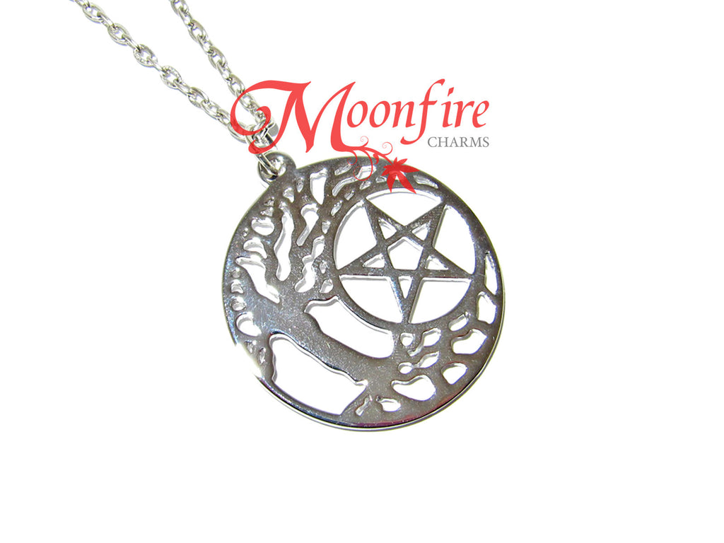SUPERNATURAL Tree of Pain Pentagram Symbol Pendant Necklace