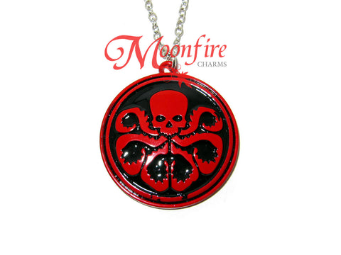 THE AVENGERS HYDRA Logo Symbol Necklace