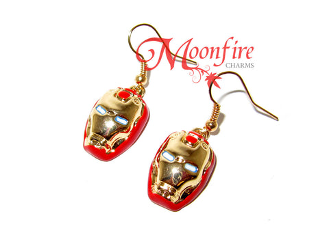THE AVENGERS Iron Man Helmet Earrings