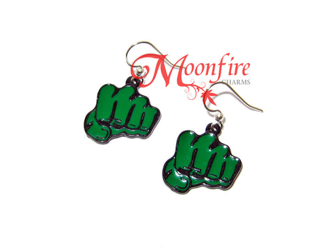 THE AVENGERS The Hulk Fist Earrings