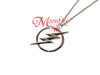Lightning Bolt Circle Pendant Necklace