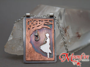 The Hanging Tree Mixed Metals Pendant Necklace