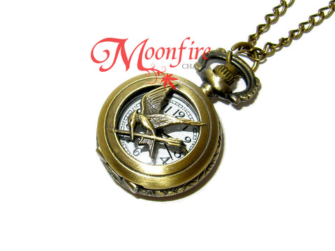 THE HUNGER GAMES Mini Mockingjay Pocket Watch Necklace
