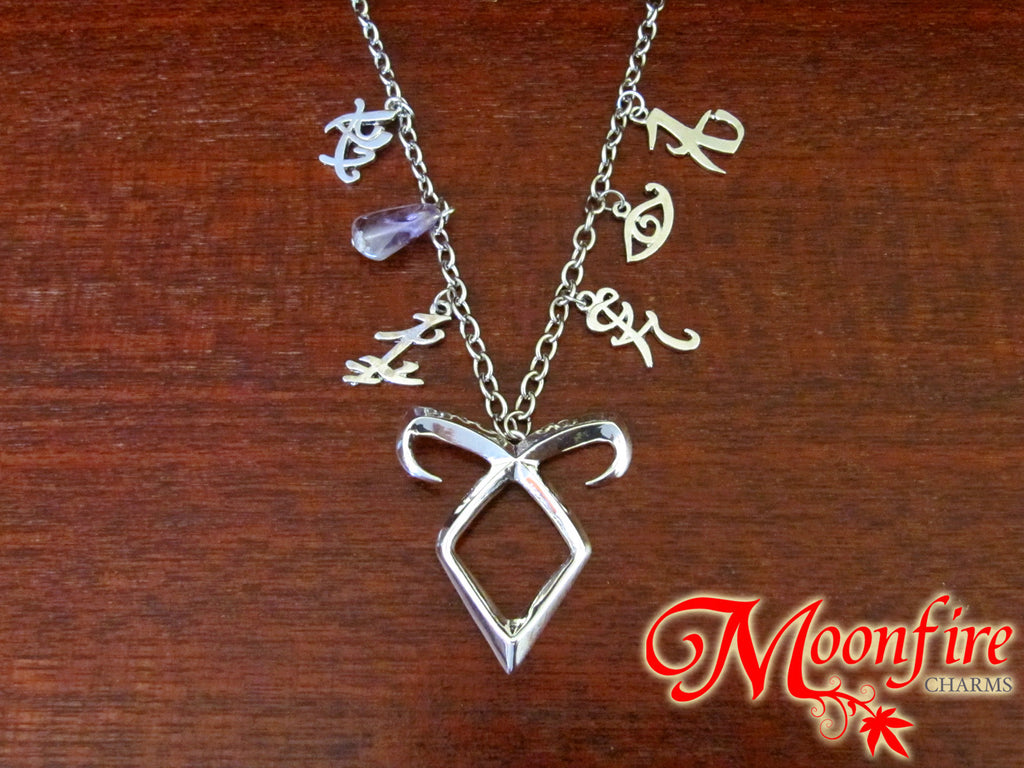 THE MORTAL INSTRUMENTS Angelic Power Runes Charm Necklace