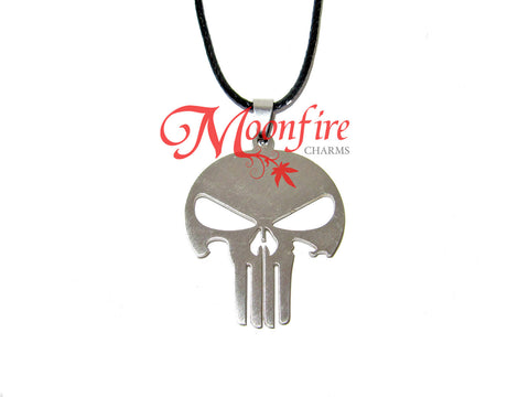 THE PUNISHER Skull Logo Pendant Necklace