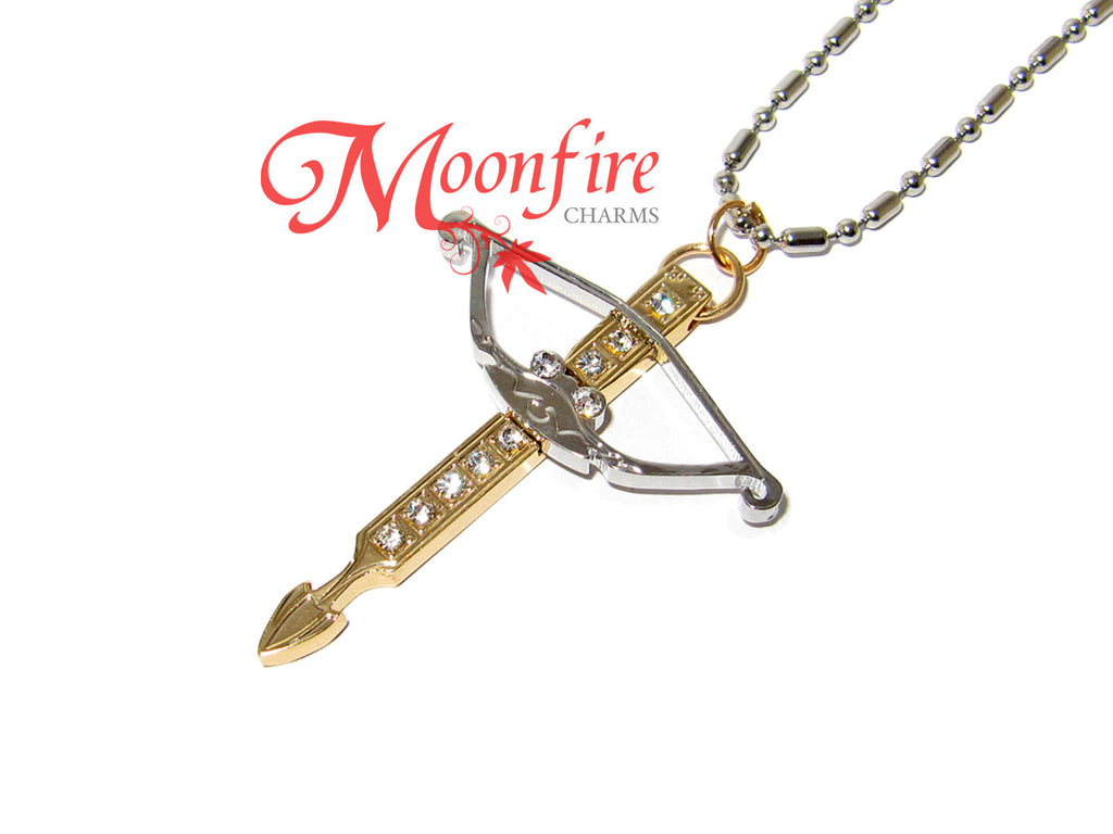 THE WALKING DEAD Fancy Crossbow Pendant Necklace