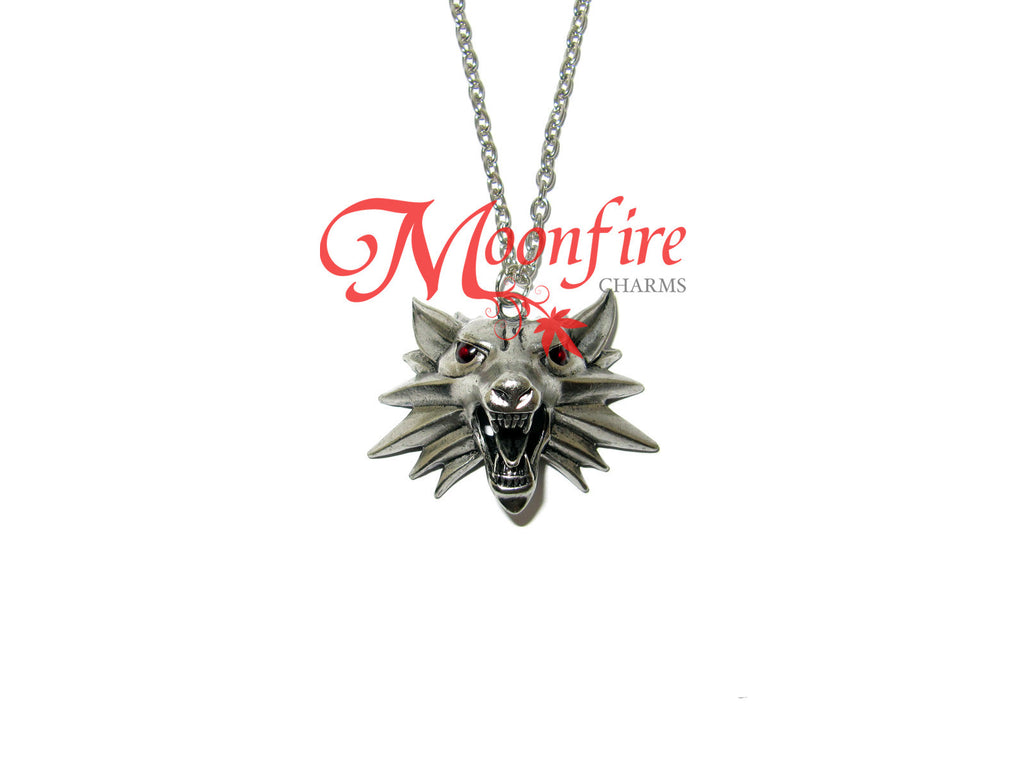 THE WITCHER Wolf Medallion Amulet Pendant Necklace