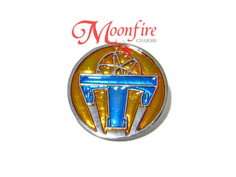 TOMORROWLAND Movie Atomic Symbol Replica Pin Badge